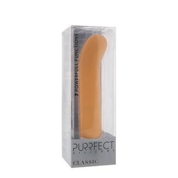 Телесный вибратор PURRFECT SILICONE CLASSIC G-SPOT - 17,5 см.