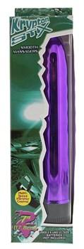 Фиолетовый классический вибратор KRYPTON STIX 7 MASSAGER - 17,8 см.