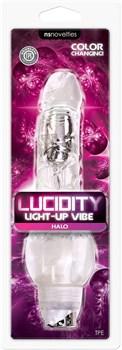 Прозрачный вибратор-реалистик Lucidity Halo Light Up Vibe - 23 см.