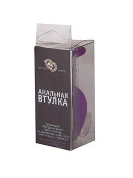Фиолетовая силиконовая пробка с прозрачным кристаллом - 7,3 см.