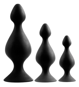 Набор из 3 анальных плагов Butt Plug Set