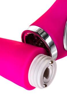 Розовый вибратор JOS PILO с WOW-режимом - 20 см.