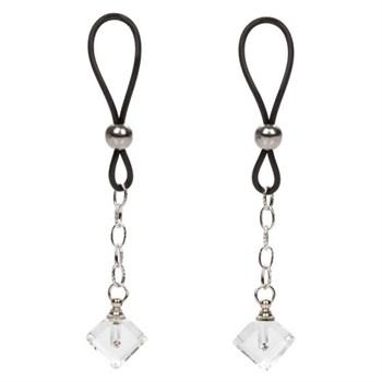 Прозрачные кристаллики-подвески на соски Non-Piercing Nipple Jewelry Crystal Gem