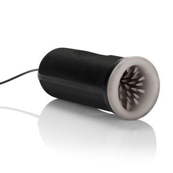 Черный мастурбатор Silicone Vibrating Oro Simulator