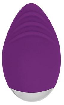 Фиолетовый клиторальный стимулятор Nanci - 10,5 см.