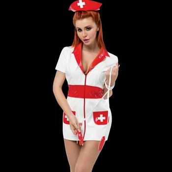 Костюм медсестры с красным чепчиком