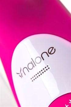 Розовый вибратор Nalone Rhythm с клиторальным стимулятором - 21,6 см.