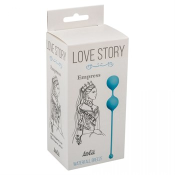 Голубые вагинальные шарики Love Story Empress Waterfall Breeze