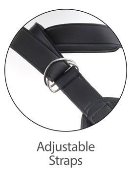 Кофейный страпон Strap-on Harness Cock - 15,2 см.