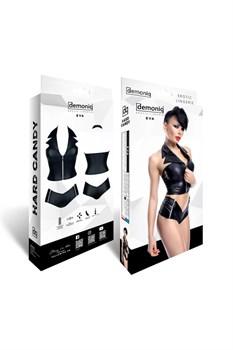 Сексуальный комплект Eva: топ на замке и шортики