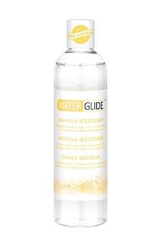 Лубрикант на водной основе с ароматом ванильного мороженого WATERGLIDE VANILLA ICECREAM - 300 мл.