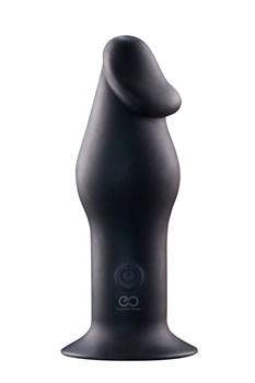 Черный анальный вибромассажер 5INCH RECHARGEABLE BUTTPLUG - 12,7 см.