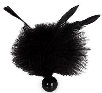 Черная метелка с круглой ручкой FEATHER TICKLER