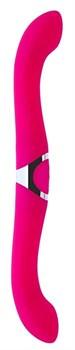 Розовый двусторонний вибратор NAGHI NO.25 - 35 см.