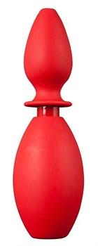 Красный анальный душ с насадкой-пробкой