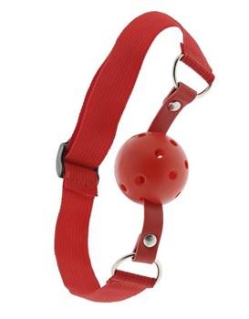 Красный кляп-шар с отверстиями BLAZE BREATHABLE BALL GAG