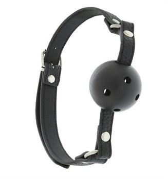 Пластиковый кляп-шар с отверстиями на полиуретановых ремнях BLAZE BREATHABLE BALL GAG