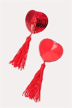 Пэстисы в форме сердец с кисточками