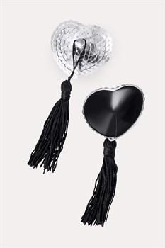 Соблазнительные пэстисы в форме сердец с кисточками