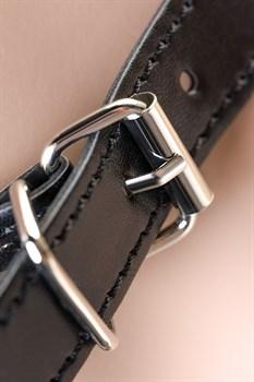 Серебристо-черное кожаное бикини с цепочками Theatre