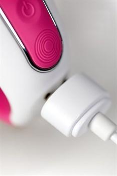 Ярко-розовый вибратор  Satisfyer Mr. Rabbit с клиторальным отростком - 22,1 см.