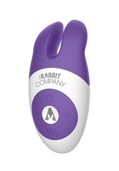 Фиолетовый вибростимулятор с ушками The Lay-on Rabbit