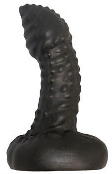 Чёрный плаг-массажёр для простаты - 11 см.