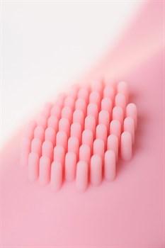 Розовый вибратор Le Stelle PERKS SERIES EX-3 с двумя сменными насадками