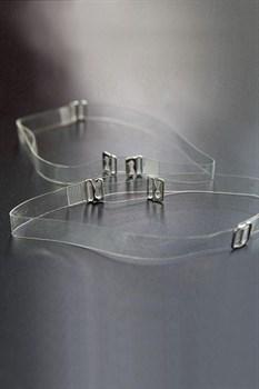 Силиконовые бретели с металлическим крючком шириной 10 мм - 2 шт.