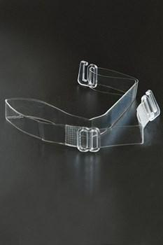 Силиконовые бретели с пластиковым крючком шириной 15 мм - 2 шт.