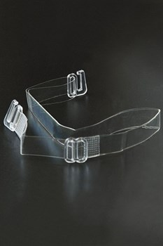 Силиконовые бретели с пластиковым крючком шириной 10 мм - 2 шт.
