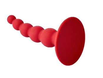 Бордовая анальная пробка Pulse - 10 см.
