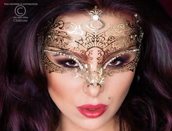 Фигурная золотистая маска Mysterious Mask