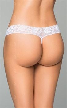 Трусики на широкой кружевной резинке с жемчужной нитью