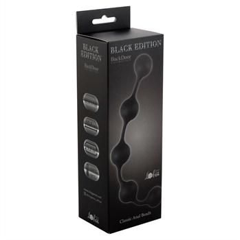 Чёрная анальная цепочка Classic Anal Beads - 31,5 см.