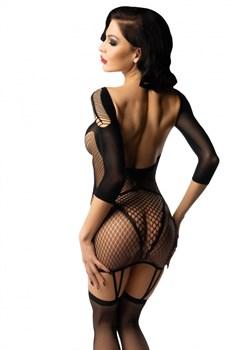 Эластичное эротическое платье с чулками