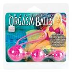 Три розовых вагинальных шарика - фото 238432