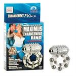 Эрекционное кольцо с массажными шариками и мини вибратором - фото 687166