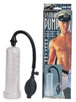 Прозрачный вакуумный массажер-помпа Seaman с силиконовой вставкой - фото 290709