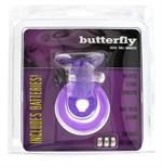 Эрекционное кольцо с вибрацией COCK BALL RING BUTTERFLY JELLY VIBE - фото 83869