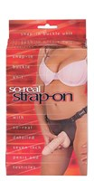 Фаллопротез женский с мошонкой SO-REAL STRAP-ON - 17,8 см. - фото 204665