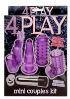 Фиолетовая вибропулька с 4 насадками - фото 260356