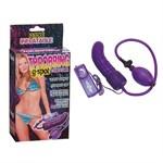 Фиолетовый расширитель с вибрацией для анальной стимуляции или массажа точки G - 15,5 см. - фото 698626