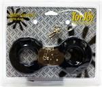 Меховые черные наручники с ключами - фото 313142