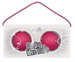 Веселые розовые вагинальные шарики Funky love balls - фото 313147