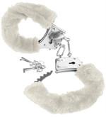 Меховые белые наручники Beginner s Furry Cuffs - фото 511450