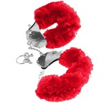 Меховые красные наручники Original Furry Cuffs - фото 180186
