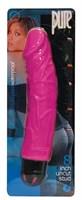 Многоскоростной розовый вибратор-реалистик PURE STUD PINK - 20,3 см. - фото 313224
