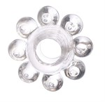 Прозрачное гелевое эрекционное кольцо-цветок - фото 377613