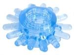 Голубая гелевая насадка с шипиками - фото 176454